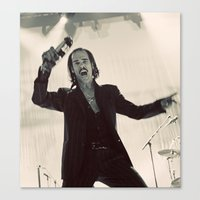nick cave Canvas Prints featuring Nick Cave by Ferdinand Bardamu