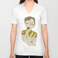 tooth V-neck T-shirts featuring TOOTH by Anna Wanda Gogusey