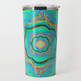 Circus-Bright colors-Joy and energy-hand painted-3D effect-Geometry Travel Mug