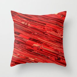 Speed Demon / Abstract 3D render of glass and metal Throw Pillow