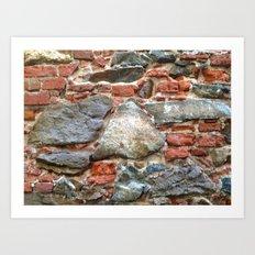 Stone, Brick, Coral, Wall, Historic St. Thomas, USVI Art Print