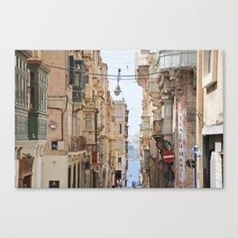 Balconies of Malta Canvas Print