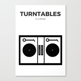 Turntables Canvas Print