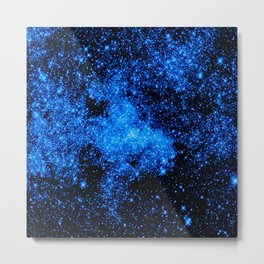 gALAXy Midnight Blue Stars Metal Print