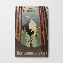 Legend of Zelda- Find Yourself in the Lost Woods Metal Print