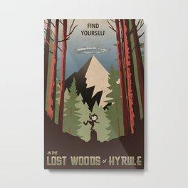 Legend of Zelda- Find Yourself in the Lost Woods Metal Print