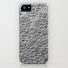 Damaged silver iPhone Case