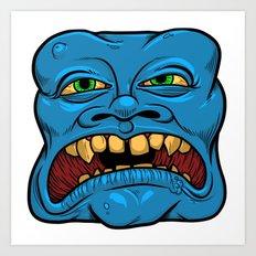 Blue Squarehead Art Print