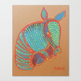 Texas Armadillo Canvas Print