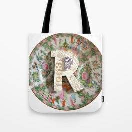 Love Letters to Dinnerware - R Tote Bag
