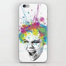 Crazy Colorful Scream iPhone Skin