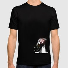 Peacock Black Mens Fitted Tee SMALL