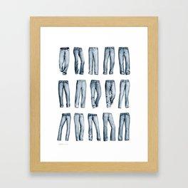 Many Jeans Framed Art Print