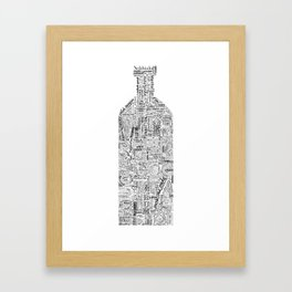 Drinks Full Tag Cloud Framed Art Print