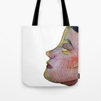 doll Tote Bags featuring Doll by beerreeme