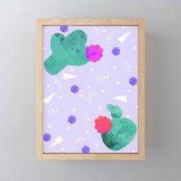 Hello Cactus Lavender Background Framed Mini Art Print
