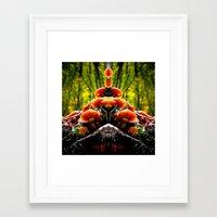 mushrooms Framed Art Prints featuring mushrooms by haroulita