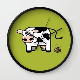 Pooping Cow Wall Clock