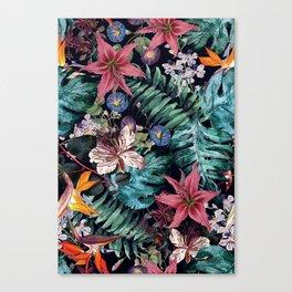 Flowers Tropical Canvas Print