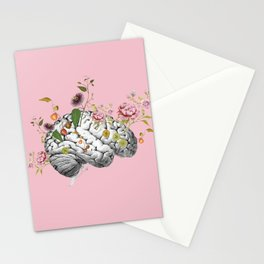 Brain Flowers Collage Stationery Cards
