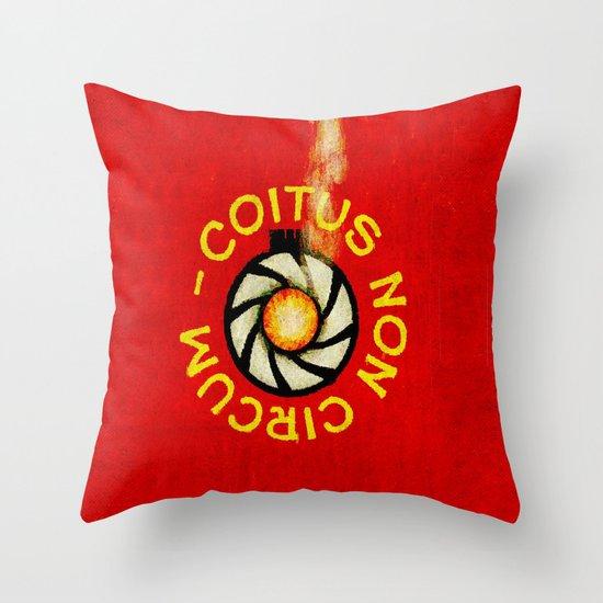 COITUS NON CIRCUM 011 Throw Pillow