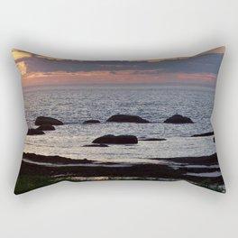 Tidal Pools and the Sunset Rectangular Pillow