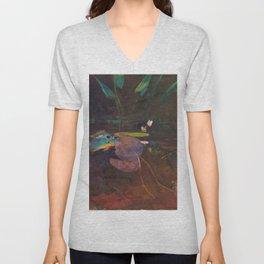 12,000pixel-500dpi - Winslow Homer1 - Mink Pond - Digital Remastered Edition Unisex V-Neck