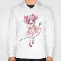 madoka magica Hoodies featuring Madoka Kaname by Yue Graphic Design