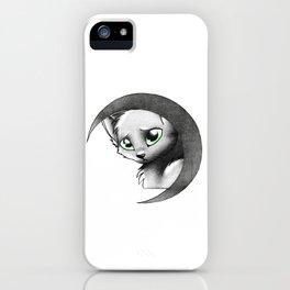 Cat & Moon iPhone Case