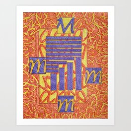 Mameia- Goddess of cocktail rings Art Print