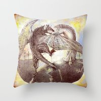fight Throw Pillows featuring Fight. by Nato Gomes