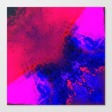 02-14-36 (Red Blue Glitch) Canvas Print