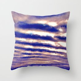 Rows of Clouds Throw Pillow