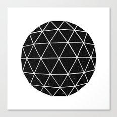 Dark Geodesic Canvas Print