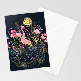 Pink Floral Stationery Cards