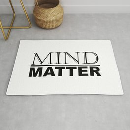 Mind Over Matter Motivational / Inspirational Quotes and Sayings Minimal Typography Rug
