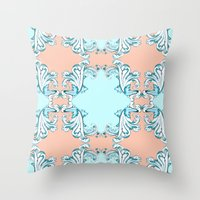baroque Throw Pillows featuring Baroque by Charlotte Goodman