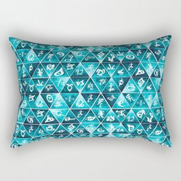 Shadowhunters Runes Mosaic Rectangular Pillow