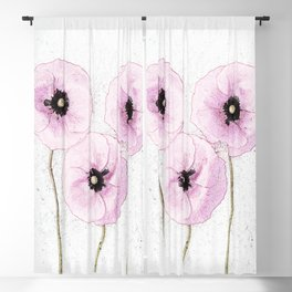 Delicate Poppies Blackout Curtain