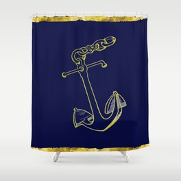 Anchor in Blue Shower Curtain