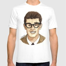 Buddy Holly White Mens Fitted Tee MEDIUM