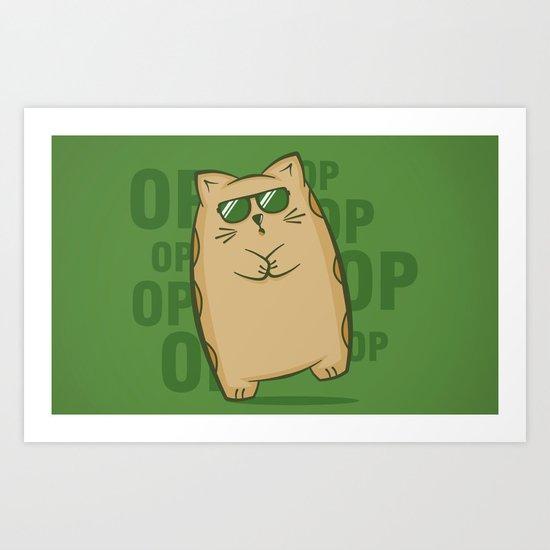 Gangnam Kitty Art Print