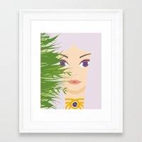 khaleesi Framed Art Prints featuring Khaleesi of the Grass Sea by momolady