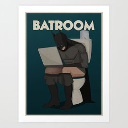 Batroom Art Print