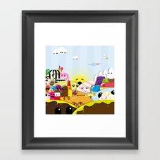 SF Sweet World  Framed Art Print