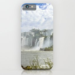 Waterfalls Landscape at Iguazu Park iPhone Case