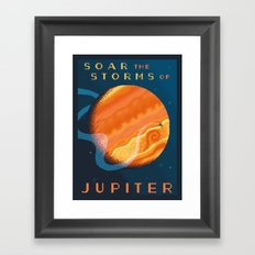 JUPITER Space Tourism Travel Poster Framed Art Print