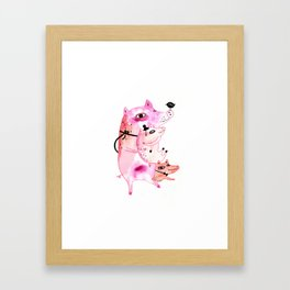 Three and Free Little Pigs Framed Art Print