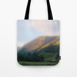 Golden Mountain Sunset Tote Bag