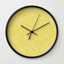 Hand Knit Yellow Wall Clock